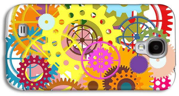 Mechanism Galaxy S4 Cases - Gears Wheels Design  Galaxy S4 Case by Setsiri Silapasuwanchai