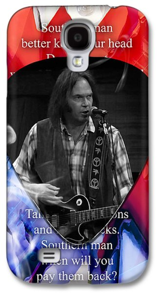 Neil Young Art Galaxy S4 Case