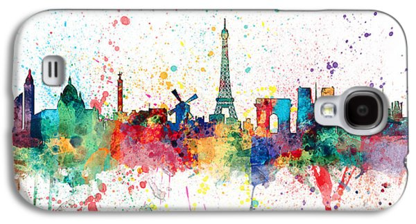 Paris France Skyline Galaxy S4 Case by Michael Tompsett