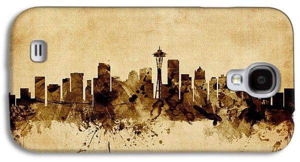 Seattle Washington Skyline Galaxy S4 Case by Michael Tompsett