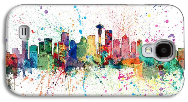 Seattle Washington Skyline Galaxy S4 Case