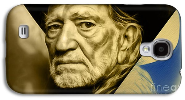 Willie Nelson Collection Galaxy S4 Case by Marvin Blaine