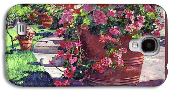Geranium Color Pot Galaxy S4 Case by David Lloyd Glover