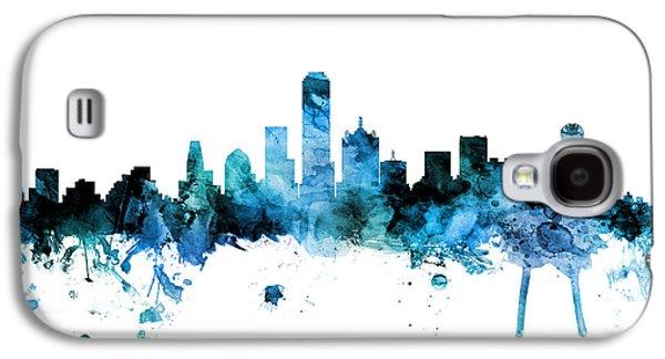 Dallas Skyline Galaxy S4 Case - Dallas Texas Skyline by Michael Tompsett