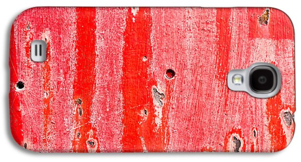 Red Metal Galaxy S4 Case by Tom Gowanlock