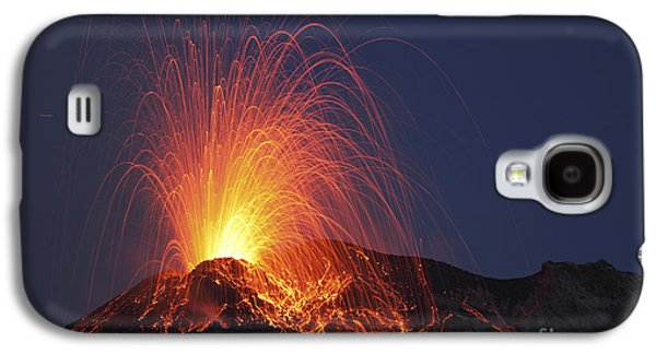Stromboli Eruption, Aeolian Islands Galaxy S4 Case by Martin Rietze