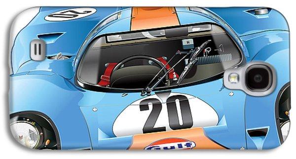 Porsche 917 Illustration Galaxy S4 Case by Alain Jamar