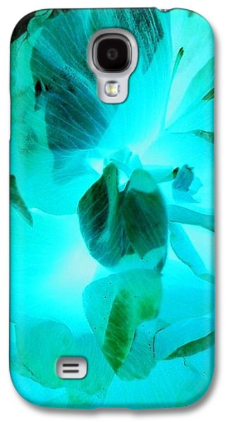 Galaxy S4 Case - A Bloom In Turquoise by Orphelia Aristal