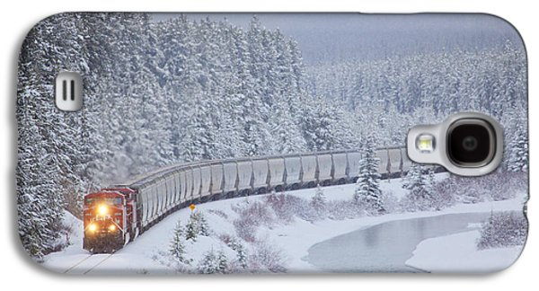 A Canadian Pacific Train Travels Along Galaxy S4 Case by Chris Bolin