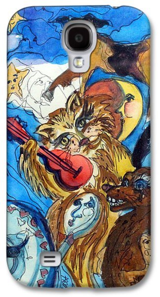 A Cat And A Fiddle Galaxy S4 Case