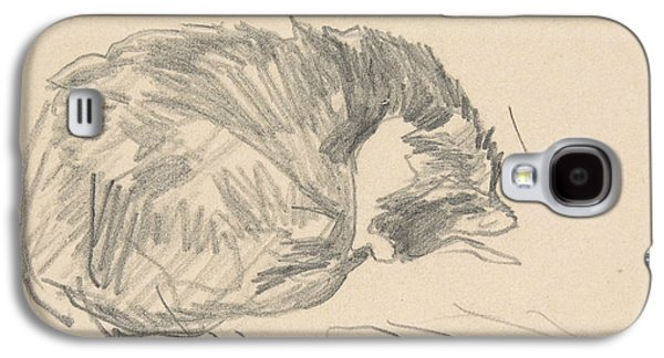 A Cat Curled Up, Sleeping Galaxy S4 Case
