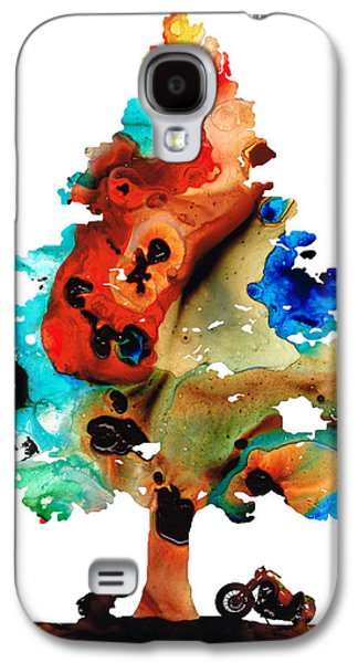 A Certain Kind Of Freedom - Guitar Motorcycle Art Print Galaxy S4 Case by Sharon Cummings