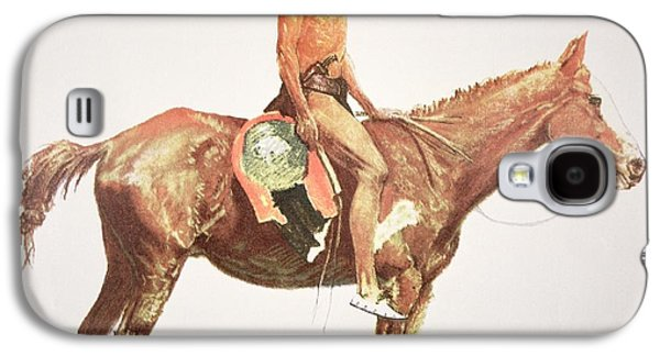 Wild Horse Paintings Galaxy S4 Cases - A Cheyenne Brave Galaxy S4 Case by Frederic Remington