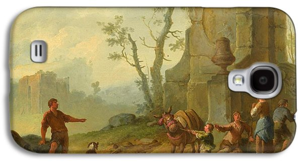 A Classical Landscape With A Family Resting By The Ruins Galaxy S4 Case by MotionAge Designs