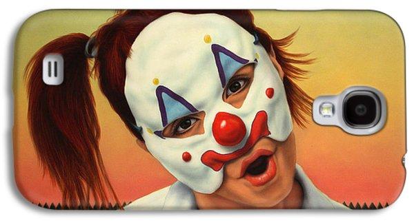 A Clown In My Backyard Galaxy S4 Case by James W Johnson