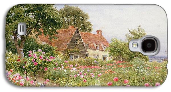 A Cottage Garden Galaxy S4 Case by Henry Sutton Palmer