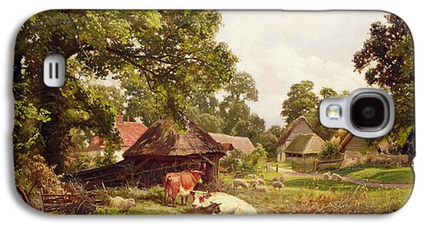 A Cottage Home In Surrey Galaxy S4 Case by Edward Henry Holder