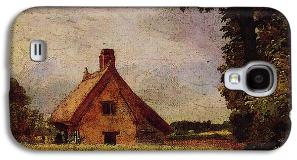 A Cottage In A Cornfield Galaxy S4 Case by John Constable