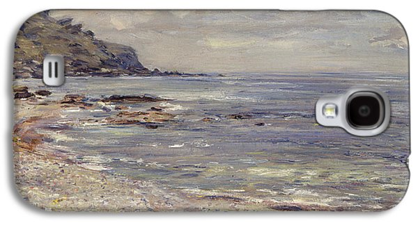 Beach Landscape Paintings Galaxy S4 Cases - A Deserted Rocky Shore Galaxy S4 Case by William McTaggart