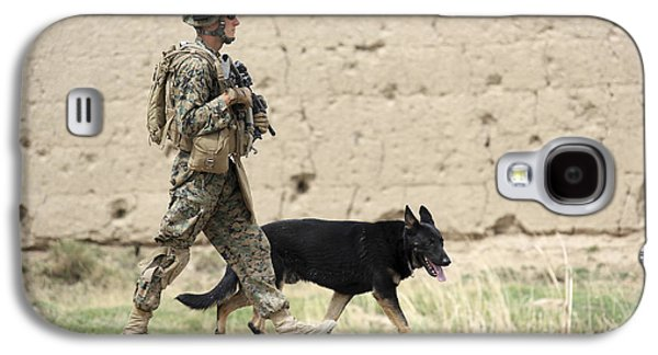 A Dog Handler Of The U.s. Marine Corps Galaxy S4 Case by Stocktrek Images