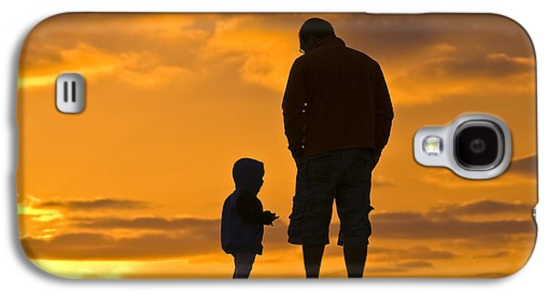 A Father And His Baby Son Watch Galaxy S4 Case