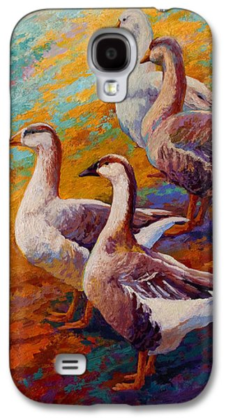 A Gaggle Of Four - Geese Galaxy S4 Case by Marion Rose