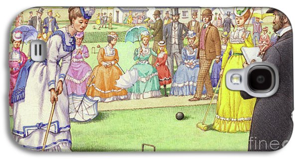 A Game Of Croquet At The All England Club At Wimbledon Galaxy S4 Case by Pat Nicolle