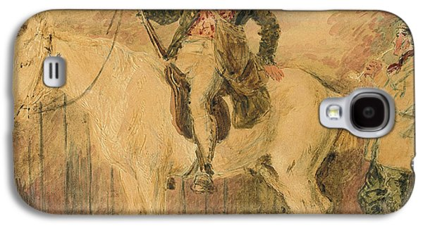 A Gamekeeper On A Horse And Another Man Conversing Galaxy S4 Case
