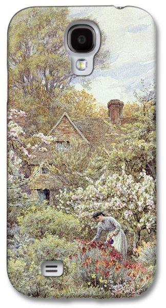A Garden In Spring Galaxy S4 Case by Helen Allingham
