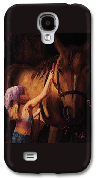 Horse Galaxy S4 Case - A Girls First Love by Billie Colson