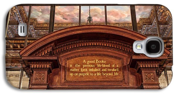 A Good Book Galaxy S4 Case by Jessica Jenney