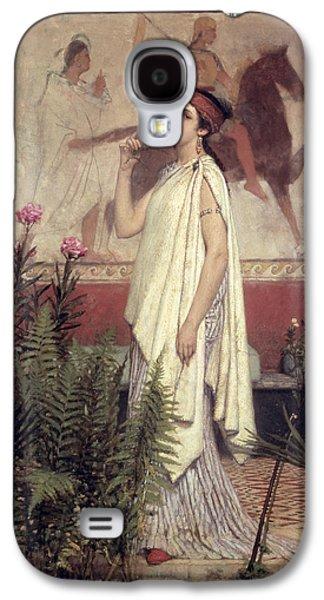 A Greek Woman Galaxy S4 Case by Sir Lawrence Alma-Tadema