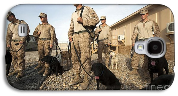 Working Dog Galaxy S4 Cases - A Group Of Dog-handlers Conduct Galaxy S4 Case by Stocktrek Images
