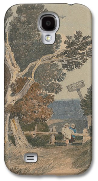 A Group Of Trees By A Fence Galaxy S4 Case by John Sell Cotman
