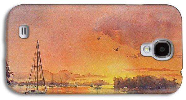 A Hingham Sunset Galaxy S4 Case by Laura Lee Zanghetti