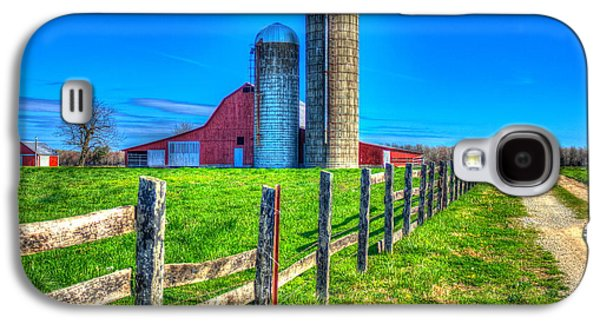 A Hole In The Fence Tennessee Farm Art Galaxy S4 Case by Reid Callaway