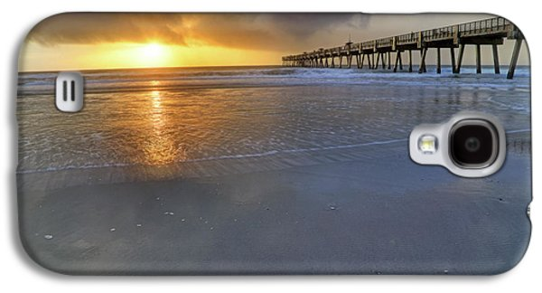 A Jacksonville Beach Sunrise - Florida - Ocean - Pier  Galaxy S4 Case