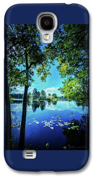A Line Of Blue Galaxy S4 Case by Marvin Spates