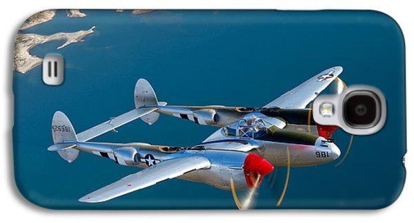 A Lockheed P-38 Lightning Fighter Galaxy S4 Case by Scott Germain