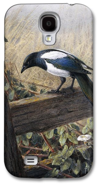 A Magpie Observing Field Mice Galaxy S4 Case