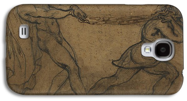 A Male Nude Pulled By Another Male Galaxy S4 Case by Theodore Gericault