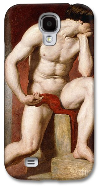 A Male Nude, Seated Full Length Galaxy S4 Case