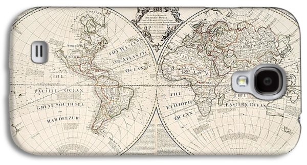 Engraving Galaxy S4 Case - A Map Of The World by John Senex
