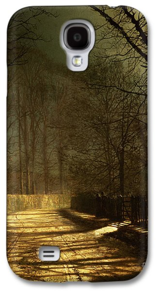 A Moonlit Lane Galaxy S4 Case by John Atkinson Grimshaw