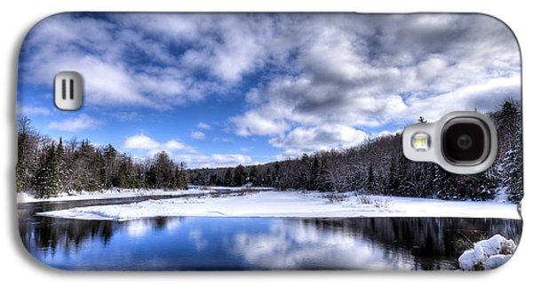 Galaxy S4 Case featuring the photograph A Moose River Snowscape by David Patterson
