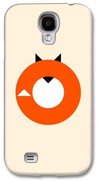 Fox Galaxy S4 Case - A Most Minimalist Fox by Nicholas Ely