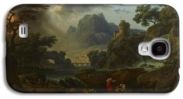 A Mountain Landscape With An Approaching Storm Galaxy S4 Case by Claude-Joseph Vernet