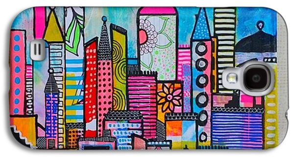 Galaxy S4 Case - A New 12 X12 #cityscape #collage by Robin Mead