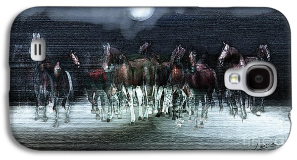A Night Of Wild Horses Galaxy S4 Case