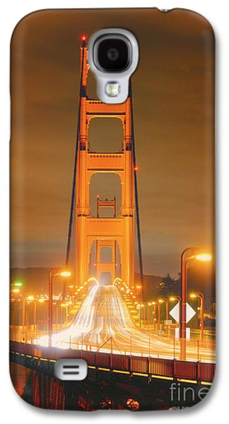 A Night View Of The Golden Gate Bridge From Vista Point In Marin County - Sausalito California Galaxy S4 Case by Silvio Ligutti